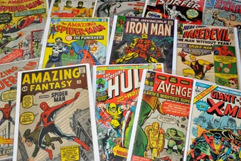 Vintage comic books can be very valuable.
